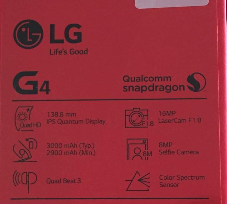 lg g4 etiquette