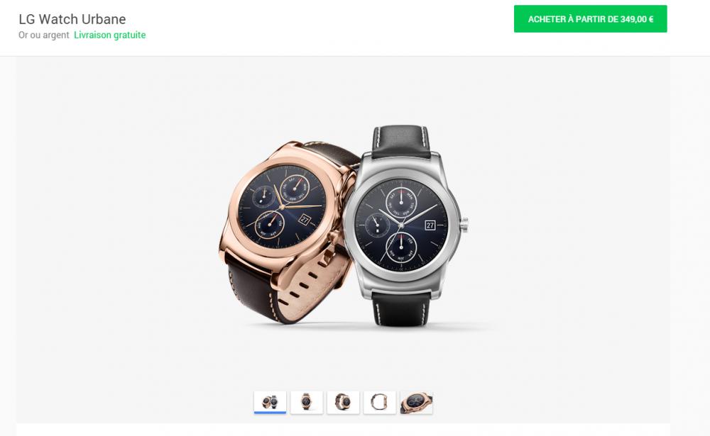 lg watch urbane google store