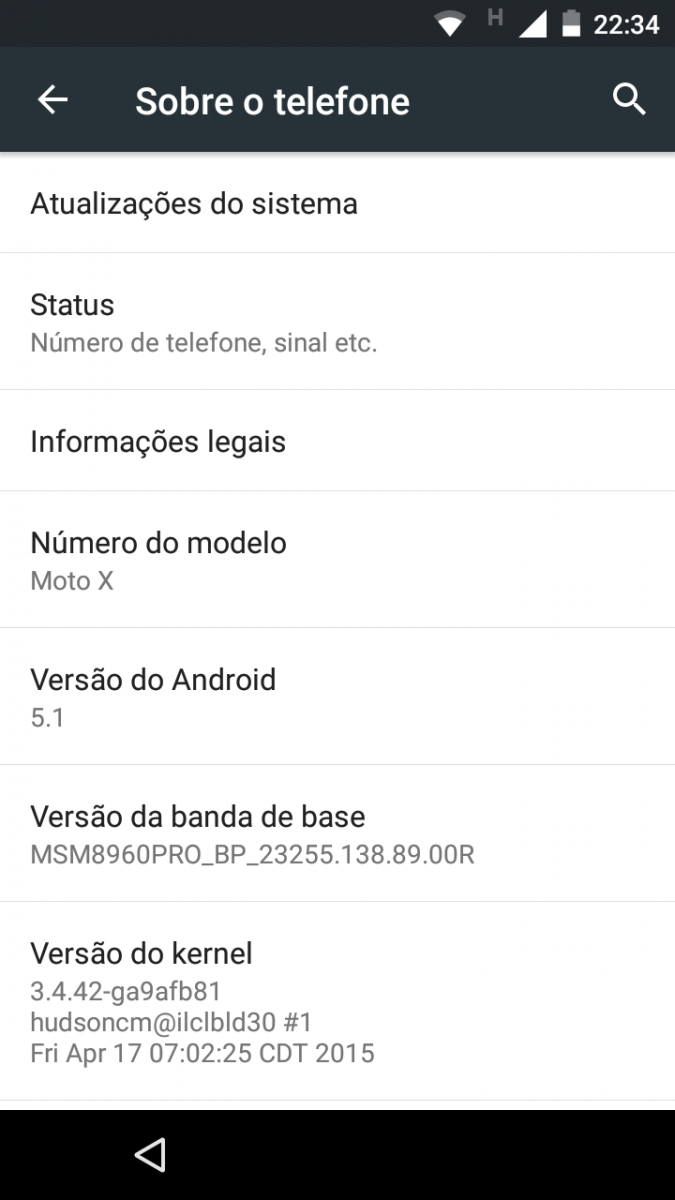 Moto X 2013 Android 5.1