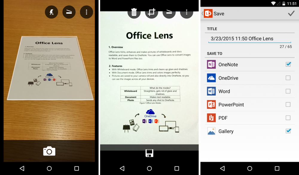 office lens android scanner