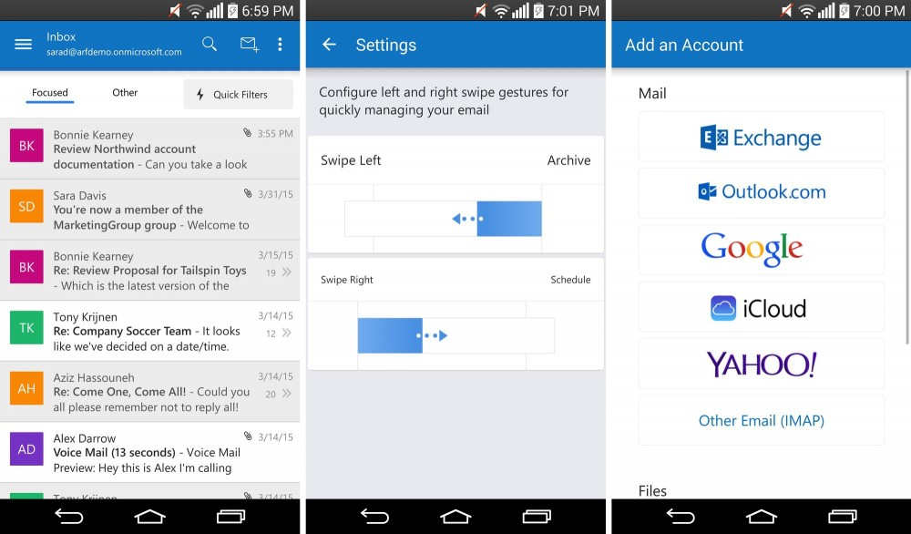 outlook android 2