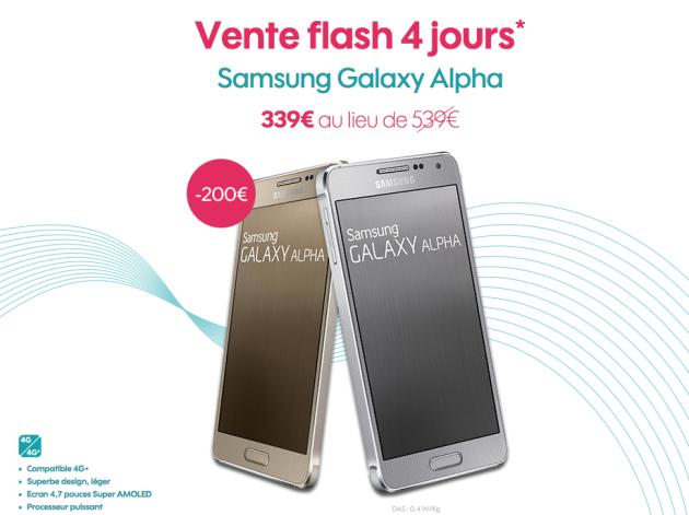 vente flash Sosh Samsung Galaxy Alpha