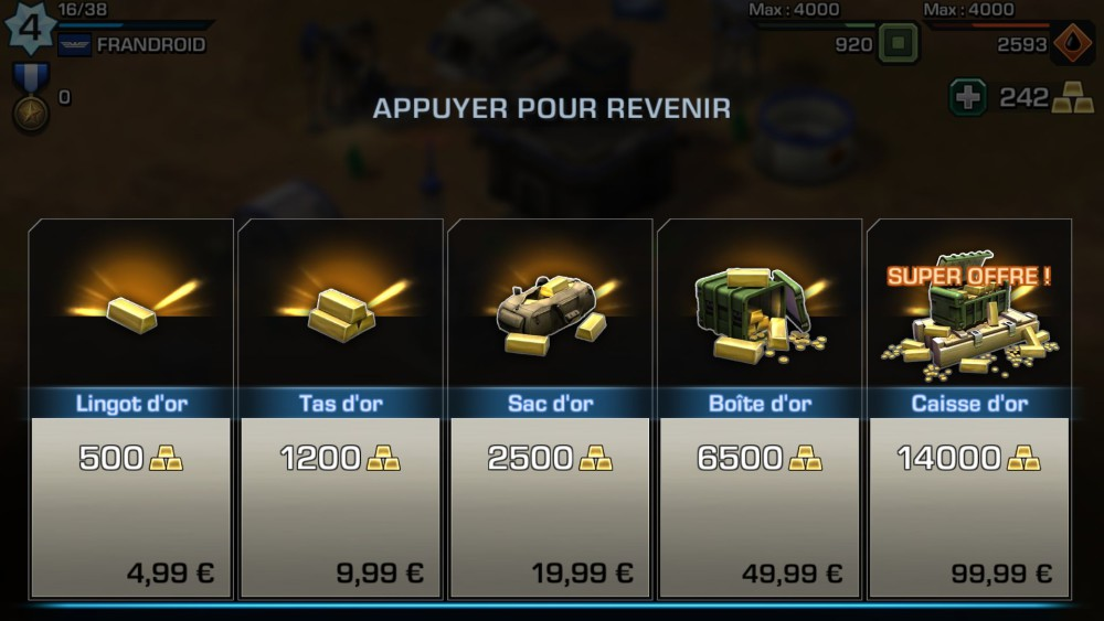 Empires and Allies achats in app