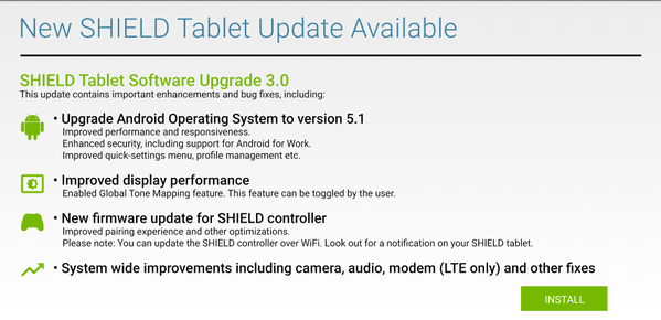 Shield Tablet Android 5.1
