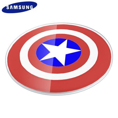 galaxy s6 chargeur sans fil captain america