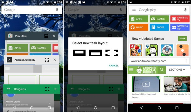 multi-fenêtre Android M