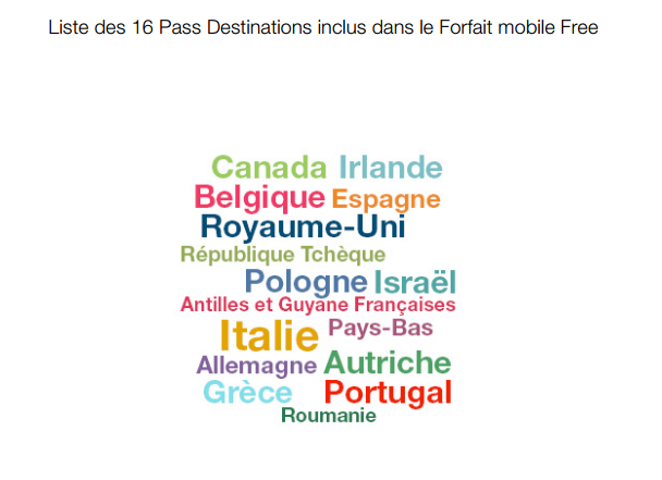 pass destinations roaming free mobile