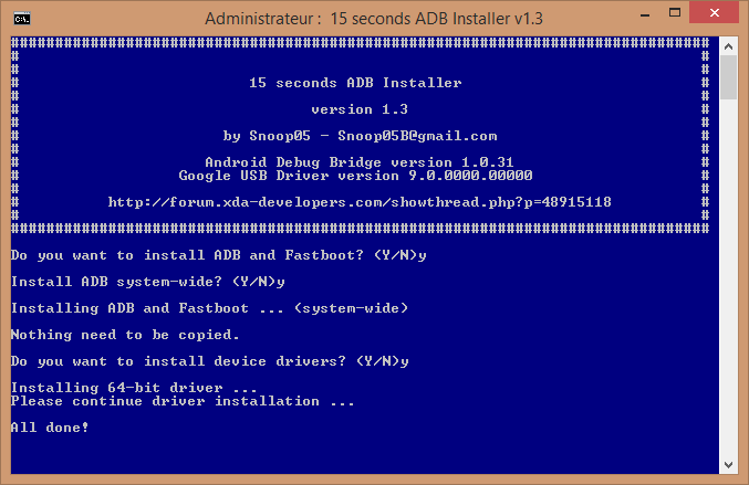 15 seconds adb installer windows