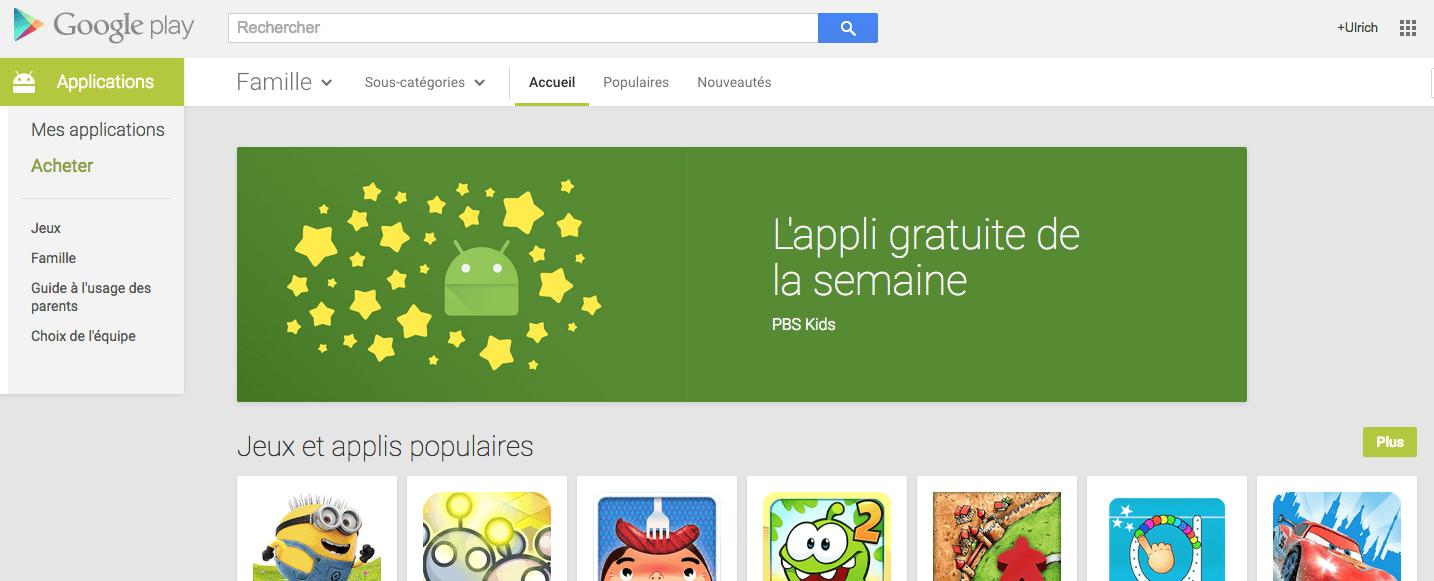 """Google se met à """"l'application gratuite de la semaine"""""""