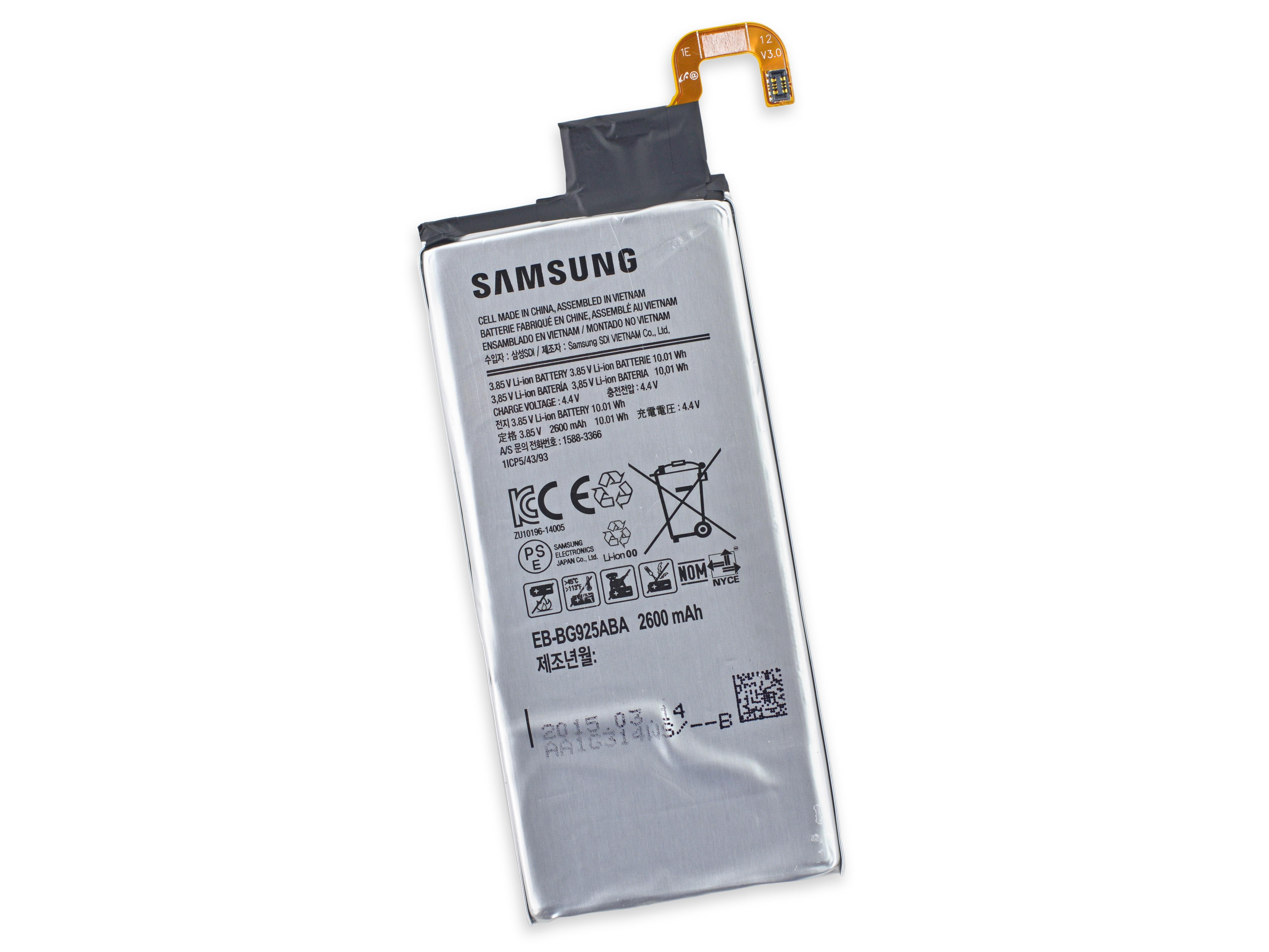 marques samsung  met point batteries lithium densite presque doublee