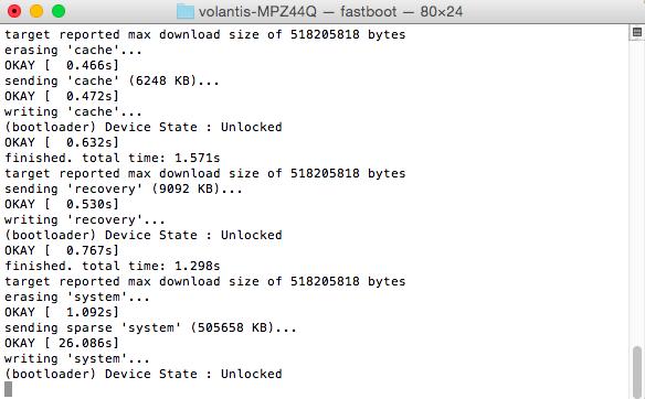 installation android m terminal mac nexus 9
