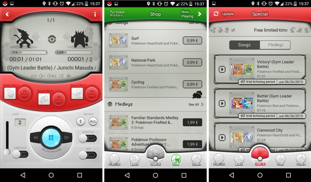 pokemon jukebox appli android 2
