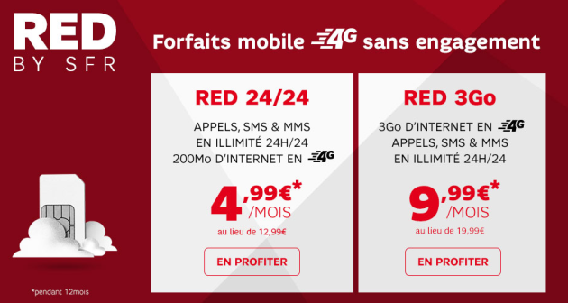 maj encore une promotion red de sfr sur les forfaits red 3go et red 24 24 frandroid. Black Bedroom Furniture Sets. Home Design Ideas