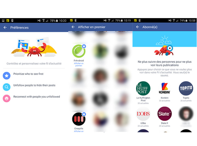 Facebook Fil actualité