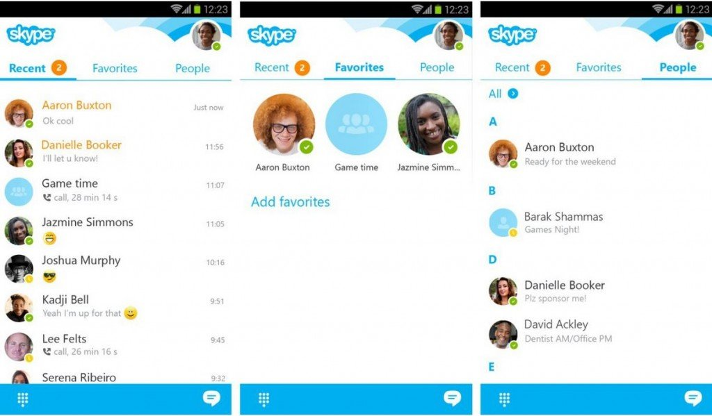how to delete skype conversation on android