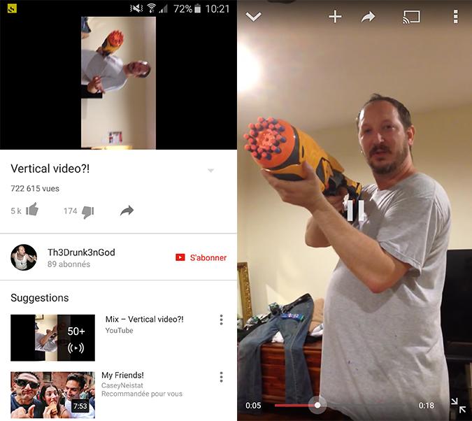 Youtube vertical