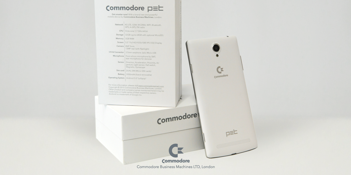 commodore revient encore avec un smartphone le commodore pet frandroid. Black Bedroom Furniture Sets. Home Design Ideas