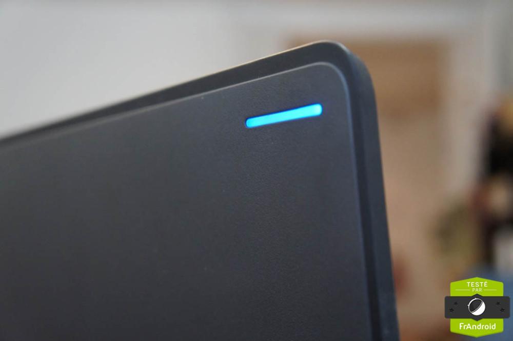 La LED en bleu...