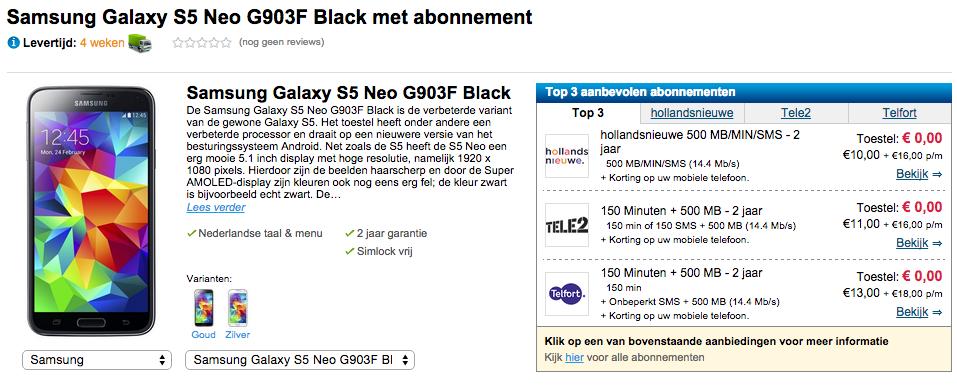 le samsung galaxy s5 neo encore aper u chez un revendeur en ligne frandroid. Black Bedroom Furniture Sets. Home Design Ideas
