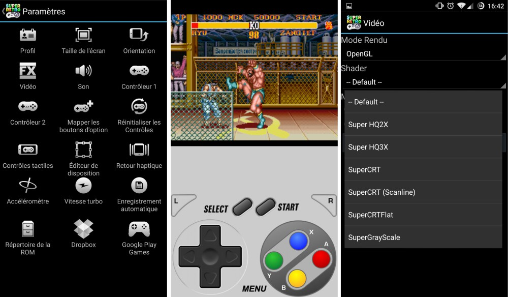 superretro16 emulateur android supernes