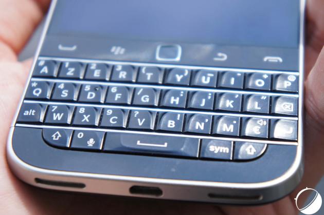 Clavier du BlackBerry Classic