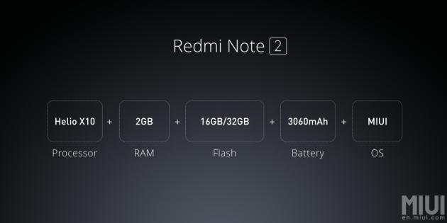 Redmi Note 2 specs