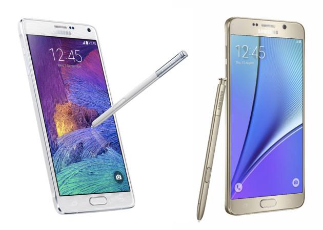Samsung Galaxy Note 5 et Note 4
