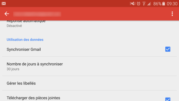 gmail sync
