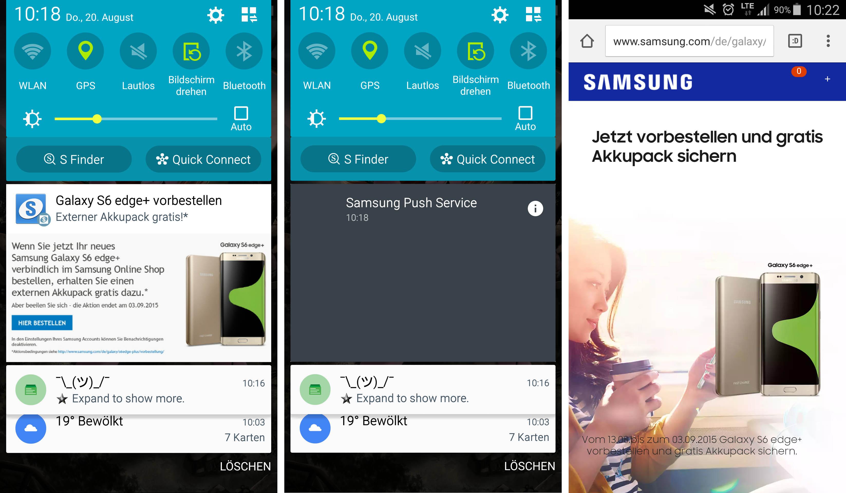 Samsung utilise les notifications pour promouvoir son - Ne plus recevoir de coup de telephone publicitaire ...