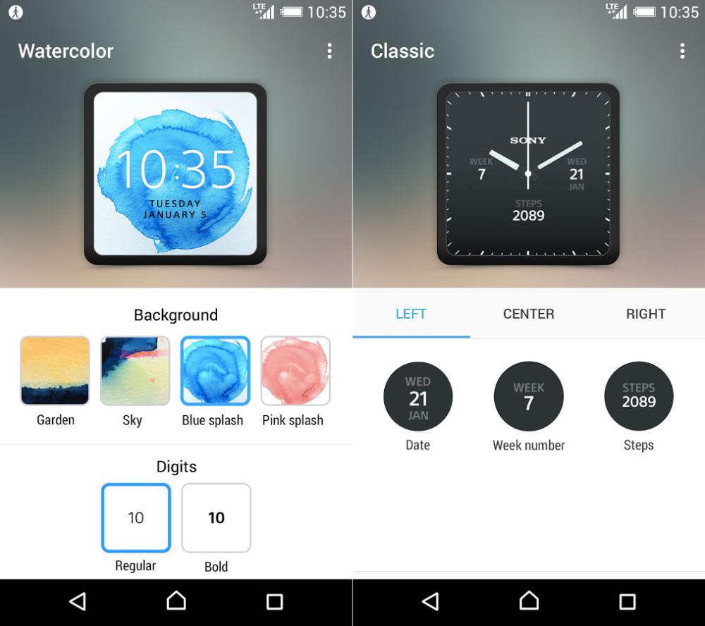 Sony SmartWatch 3 app