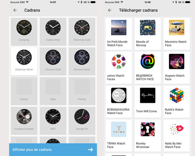 Cadrans iOS