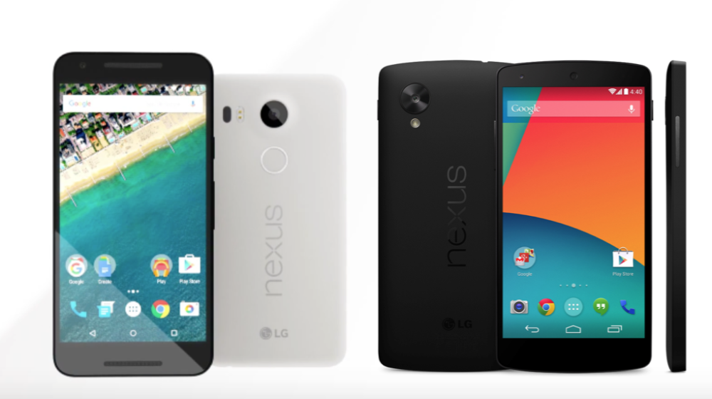 Nexus 5X et Nexus 5