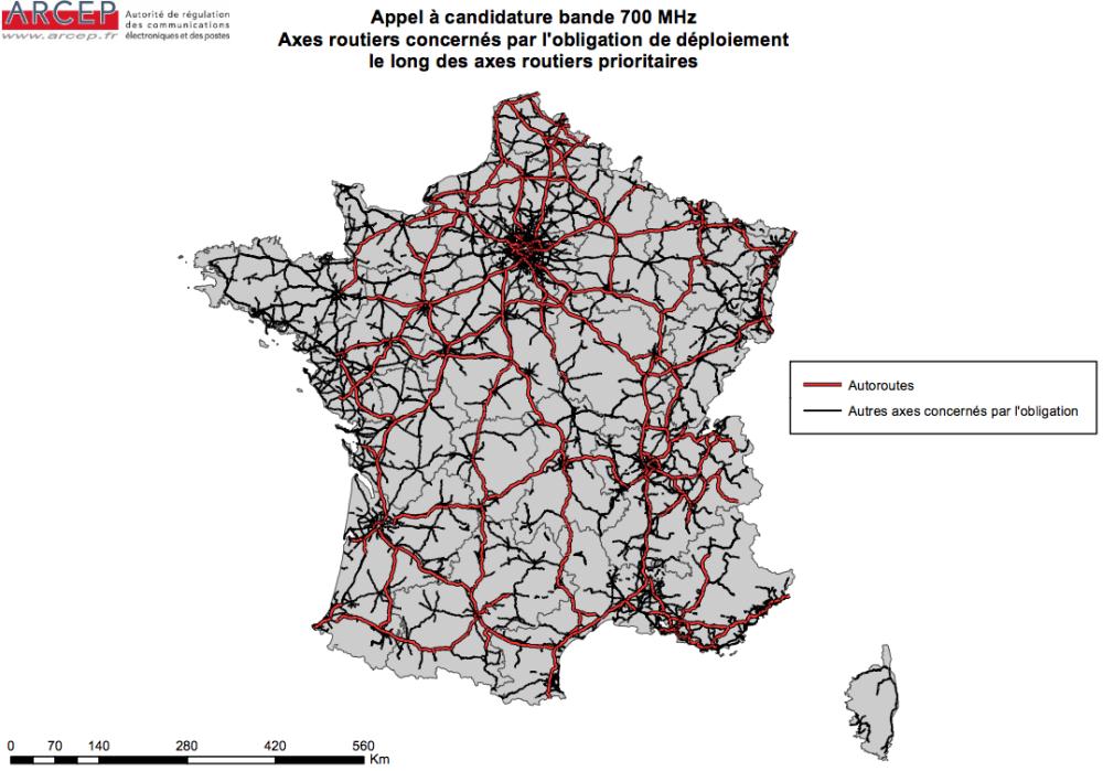 carte-arcep-reseau-routier-700-mhz