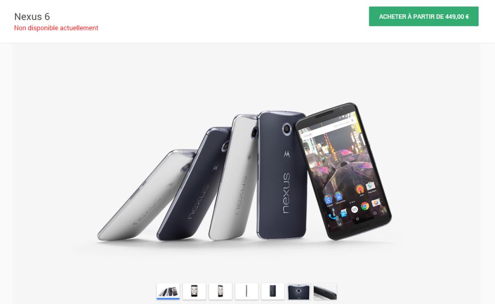 nexus 6 google store