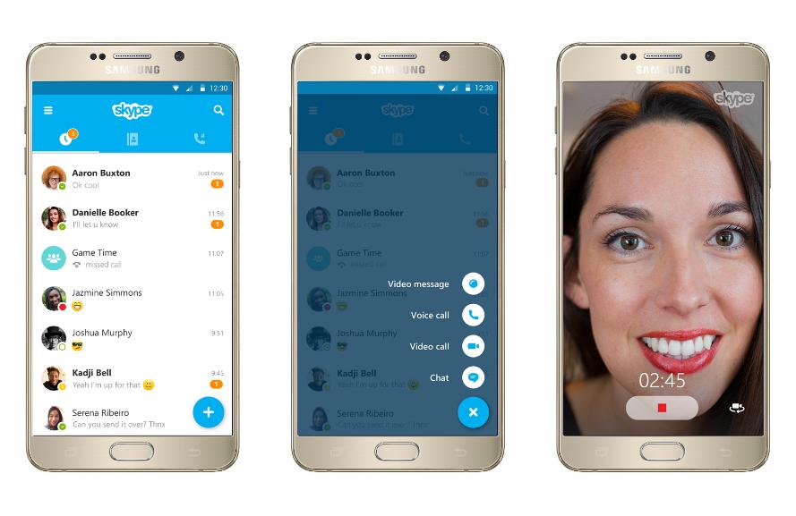 skype pour android l application arbore enfin un nouveau design frandroid