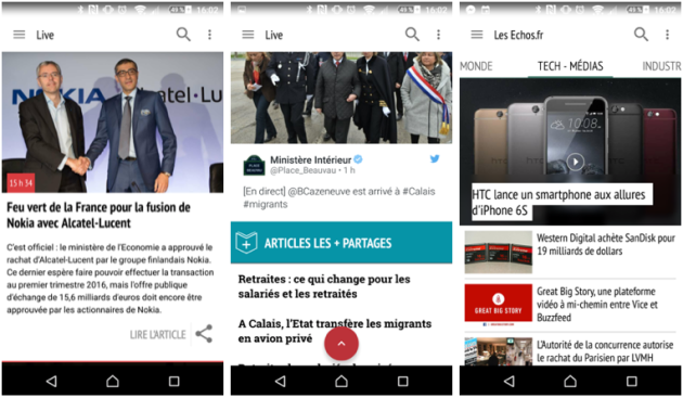 application Android Les Echos