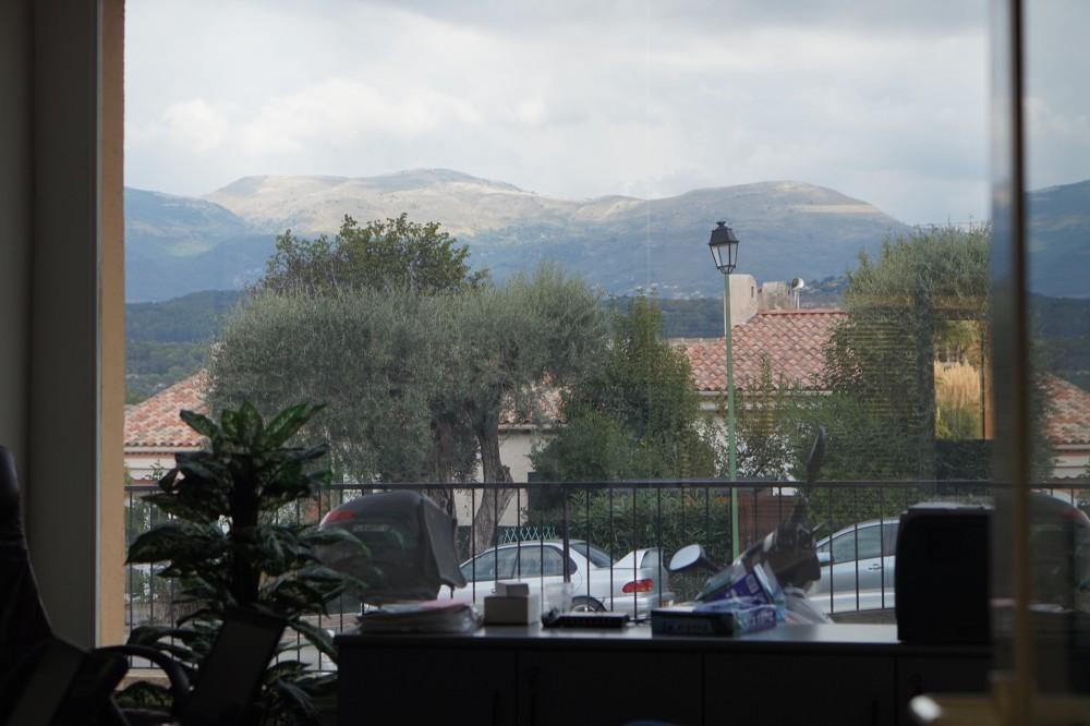 Une vue magnifique depuis le bureau de Benoit