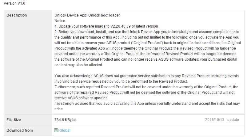 app unlock bootloader asus zenfone 2