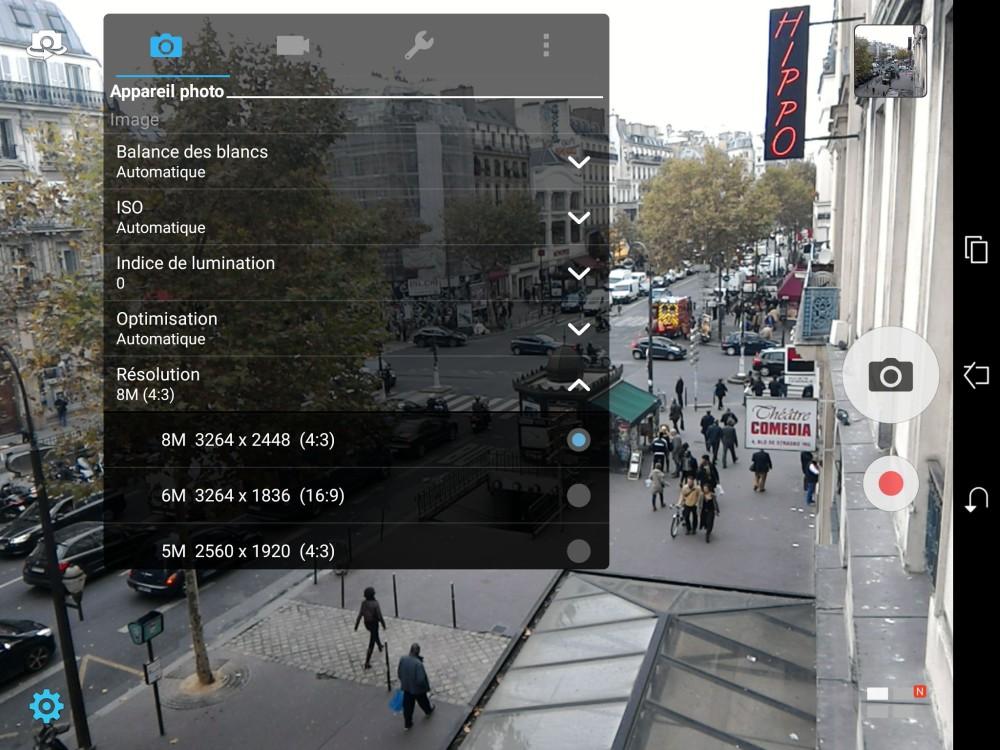 appareil photo zenpad s 8.0