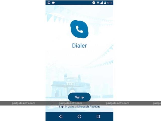 dialer app microsoft skype