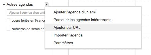google-agenda-url