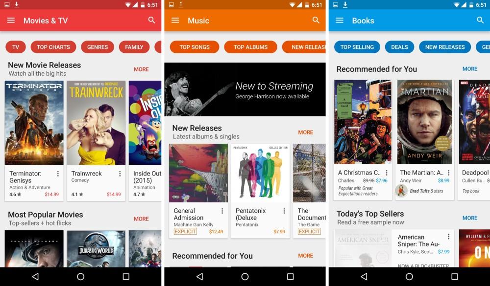 google play store nouvelle version octobre 2015 2