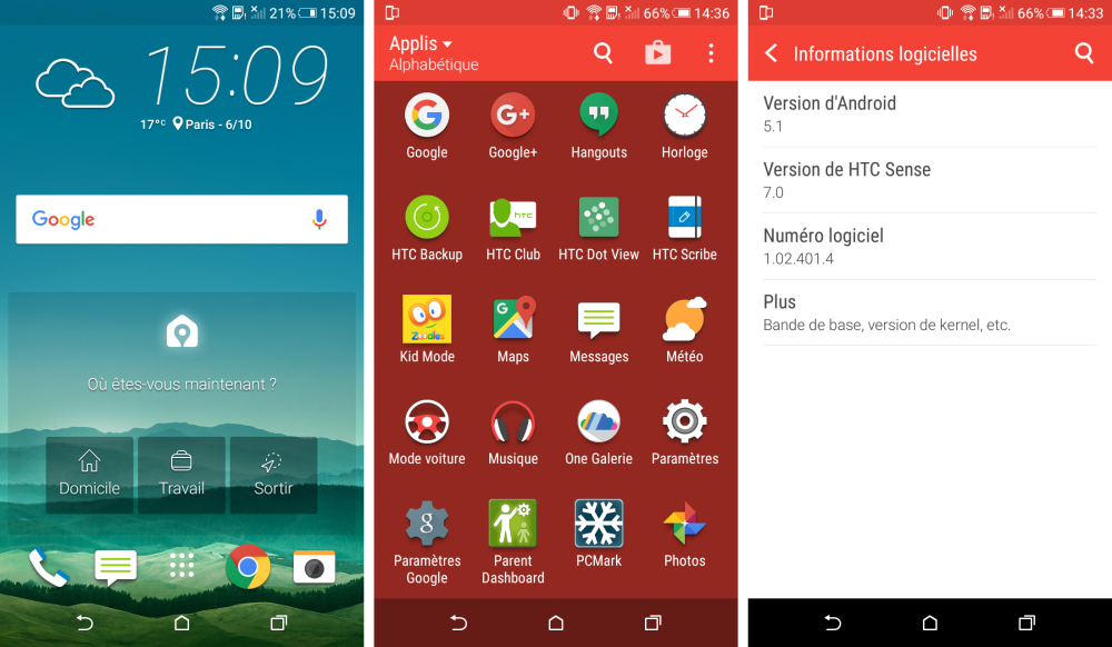 htc desire 626 logiciel android
