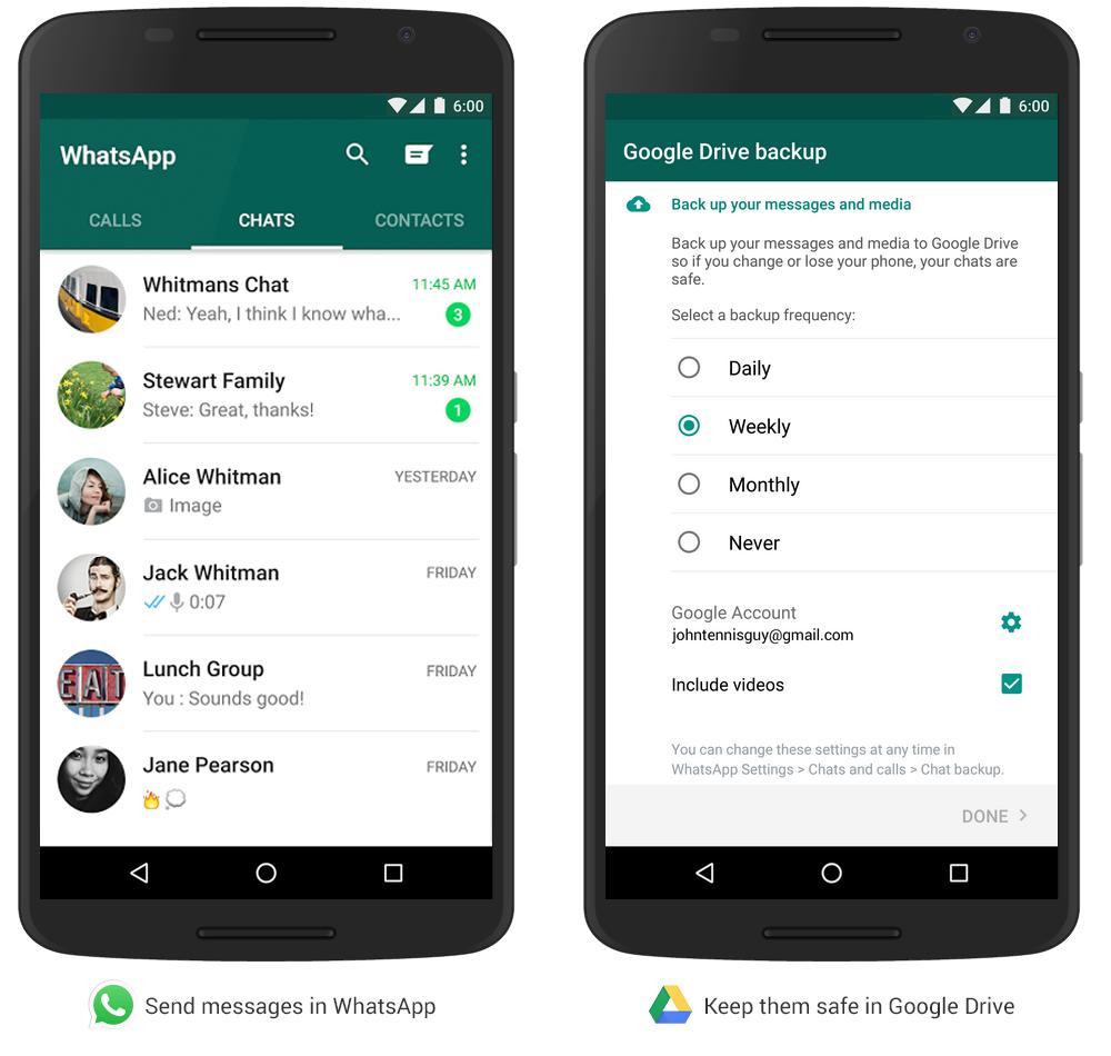 WhatsApp permet maintenant de sauvegarder ses