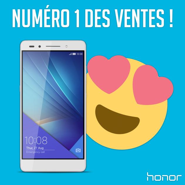 Le Honor 7 était numéro 1 des ventes smartphones chez Amazon France, LDLC et GrosBill moins de 7 jours après sa commercialisation