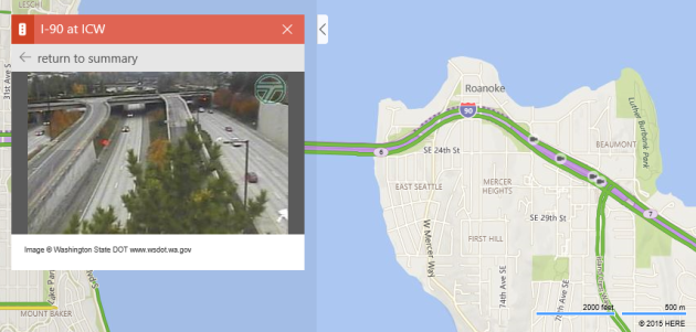 Bing Maps traffic