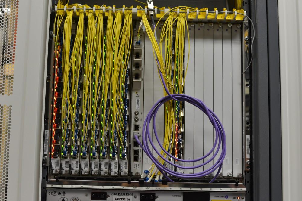 La Terminaison Optique de Ligne (OLT), l'équivalent du DSLAM de l'ADSL