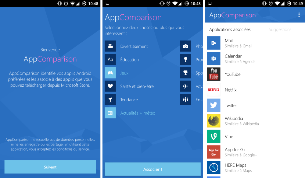 app comparion windows android 2
