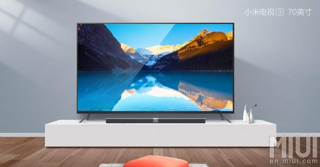 xiaomi mi tv 3 une version de 70 pouces pour la fin de l 39 ann e frandroid. Black Bedroom Furniture Sets. Home Design Ideas