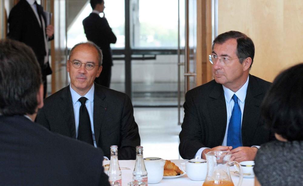 Stéphane Richard (Orange) et Martin Bouygues (Bouygues)